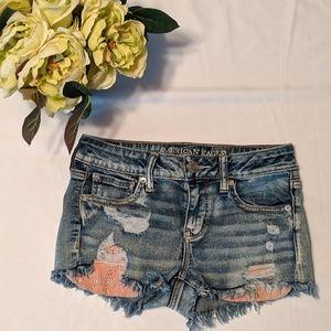 "American Eagle ""shortie"" denim shorts"